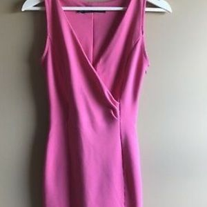 ZARA pink bodycon dress